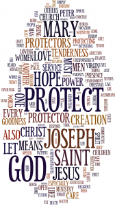 Click the word cloud to read Pope Francis' homily from his inauguration Mass