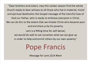 Lent quote 2 from Pope Francis